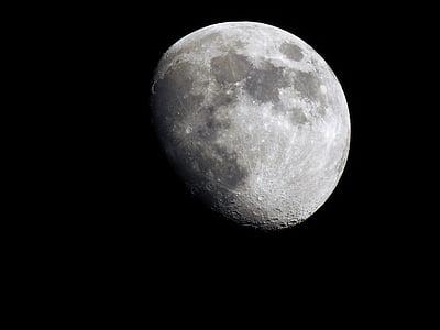 Lluna, espai, cel, nit, l'astronomia, superfície de la lluna, Lluna plena