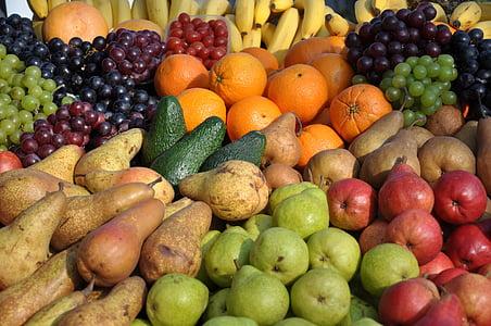 과일, 혼합, 색, 음식, 신선도, 애플-과일, 배