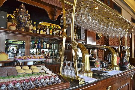 vintage, coffee shop, retro, restaurant, traditional, style, coffee