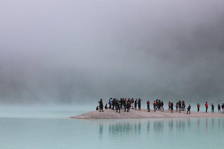 insanlar, ada, yakın:, okyanus, sis, gün, plaj