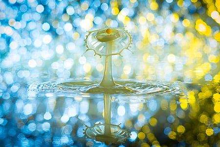 degoteig, alta velocitat, líquid, esprai, gota d'aigua, fotografia de la Highspeed, hochspringender gota alta
