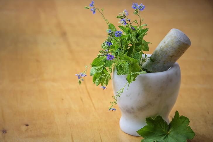 medicina natural, herbes del Prat, natura, salut, morter, neteja, una dieta saludable