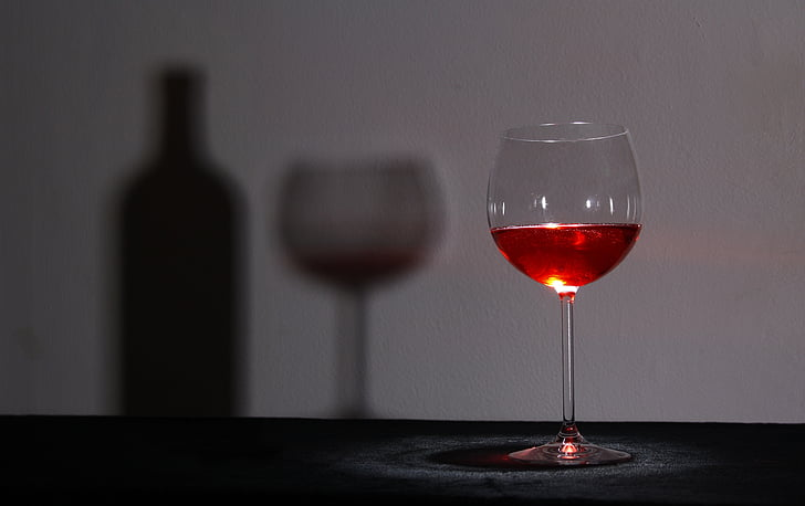 vetro, vino, ombra, bicchiere di vino, occhiali, trasparente, stato d'animo