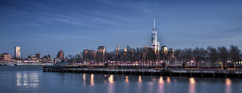 nyc, city, manhattan skyline, manhattan, usa, cityscape, new