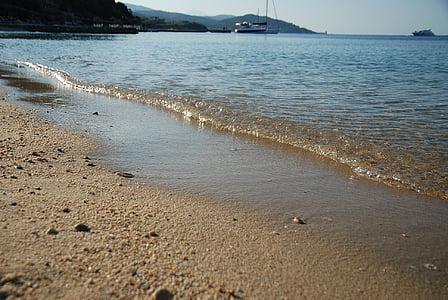στη θάλασσα, κύματα, Ωκεανός, μπλε, φύση, νερό, τροπικά