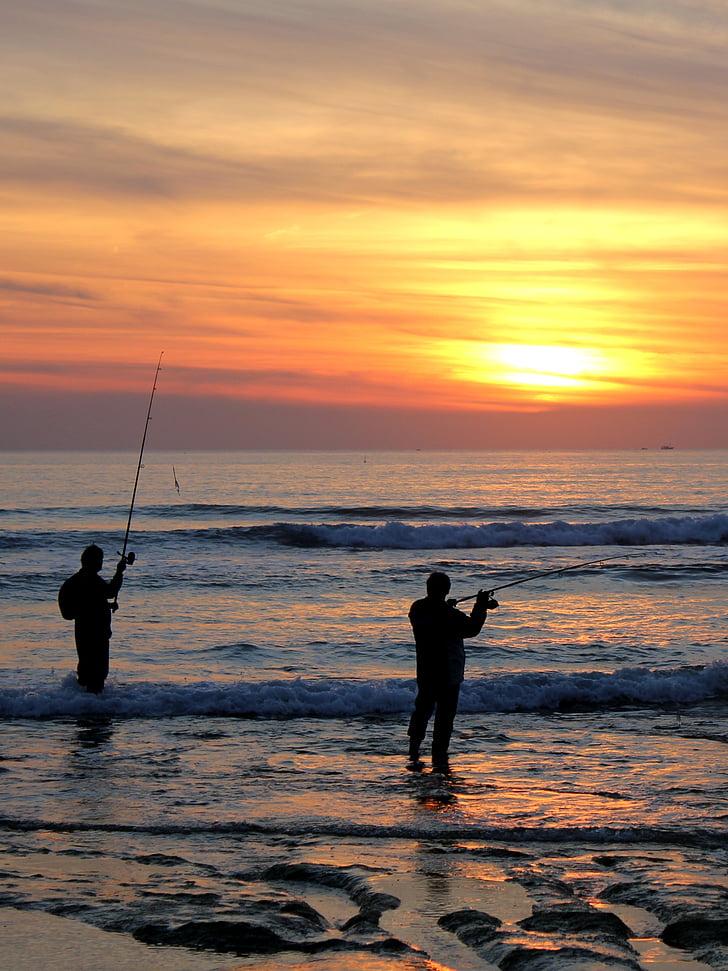 Cadiz, Spanje, natuur, hemel, water, reizen, Visser