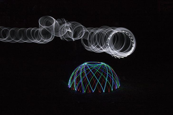 LED, světlo, světla, noční, projekce, osvětlení, lehká koule