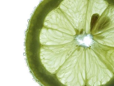 Frisch, eau, goutte à goutte, macro, vert, citron vert, fruits
