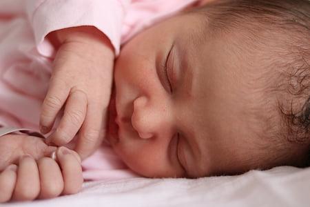 nena, nena, fill, nadó, tendresa, Naixement, cara