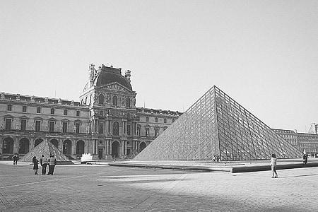 louvre, Pariis, Prantsusmaa, arhitektuur, Art, Galerii, inimesed
