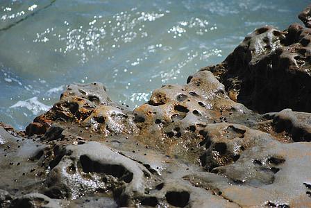 kivid, Ocean, vee, Vaikse ookeani, suvel, rannikul