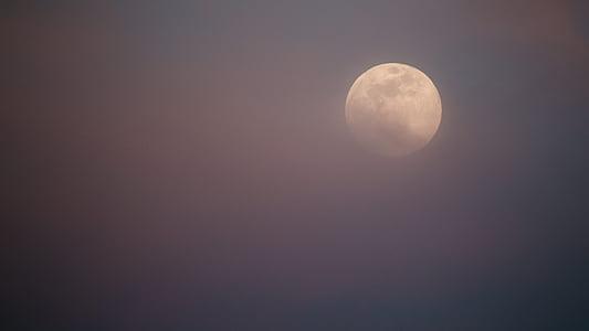 tmavé, noc, mesiac, oblaky, Sky, Astronómia, priestor