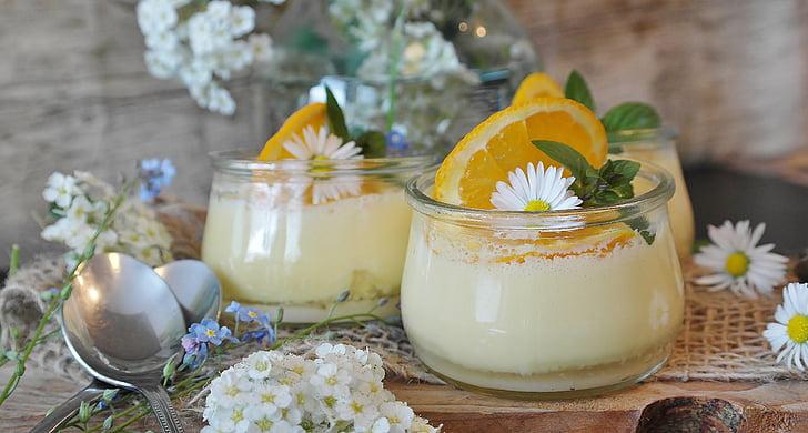 crema, crema de taronja, taronges, postres, plat dolç, dolç, deliciós
