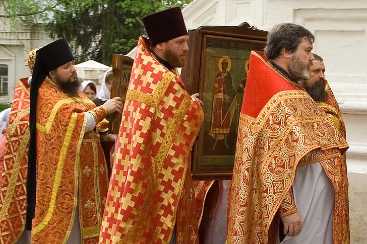 la processó, sacerdot, icona
