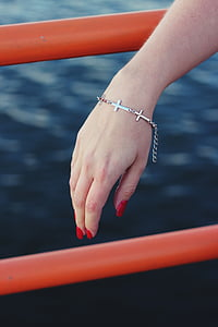 bracelet, jewellery, hand, human Hand, water
