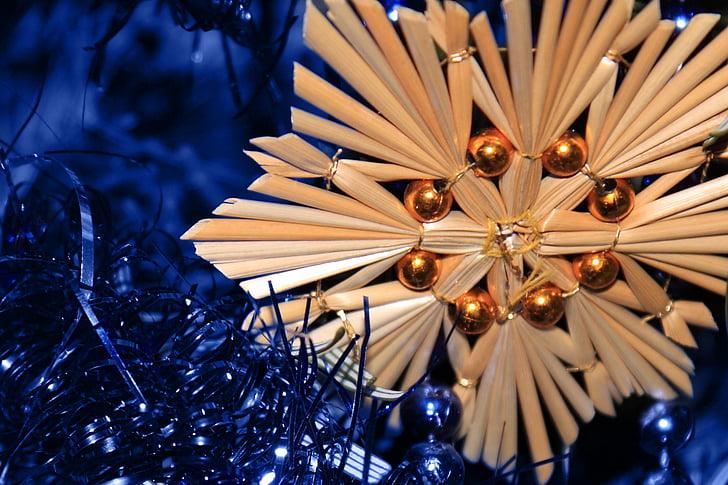 õled, Star, jõulud, Xmas, teenetemärgi, sinine