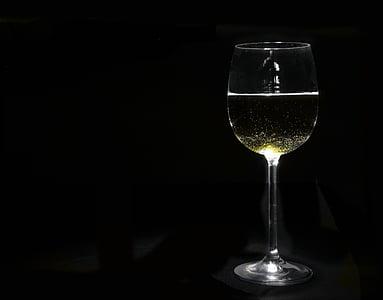valge vein, klaas, jook, veini, kasu, veini klaasi, läbipaistev