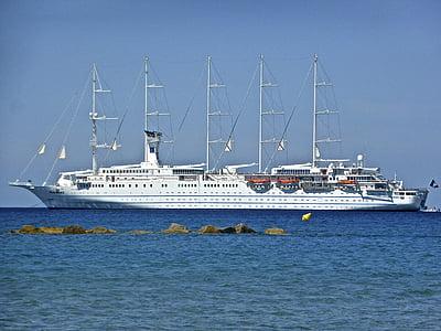 sejlskib, Krydstogtsferie, Nautisk, fartøj, turisme, ferie, sejlsport