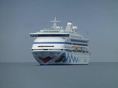 cruise, aida, cruise ship, sea, ship