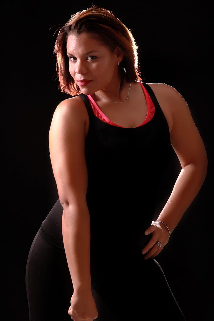 gimnàs, bellesa, atleta, figura, República Dominicana, calenta, Atletisme