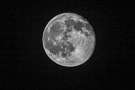 Mond, Nacht, Himmel, Nachthimmel, Dunkelheit, Mond in der Nacht