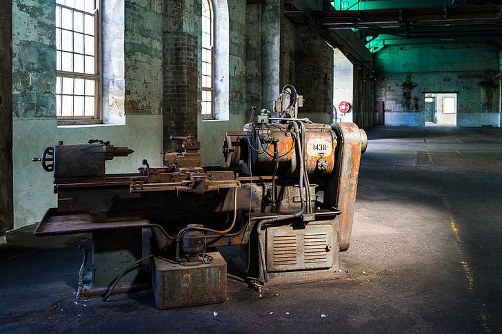 промислові, обладнання, техніка, Старий, покинуті, іржаві, вивітрюванню