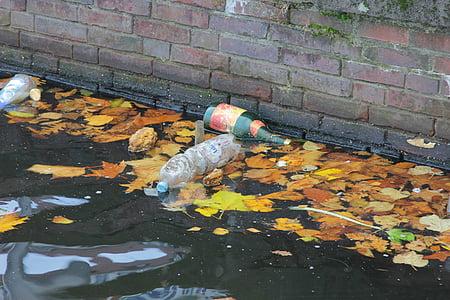 垃圾, 水, 污染, 塑料, 废物, 环境, 废塑料