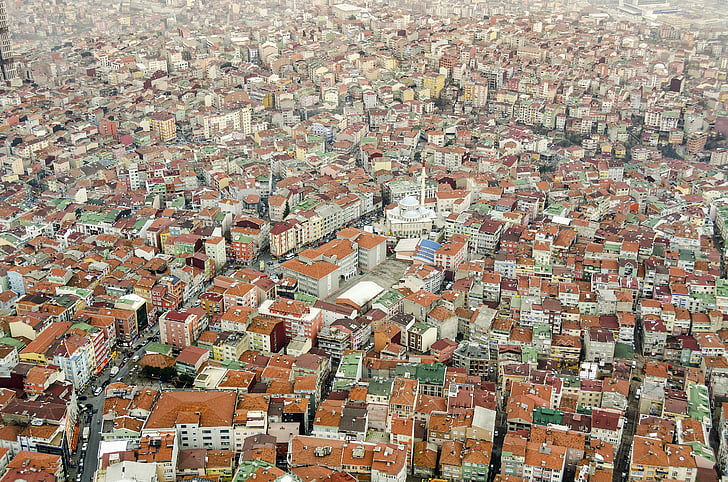 city, urban, aerial, outdoors, market, architecture, infrastructure