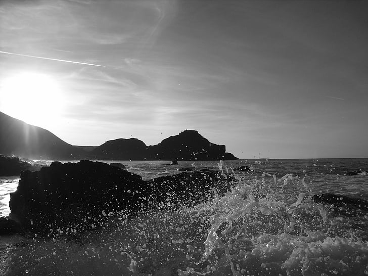 sjøen, bølger, steiner, havet bølge, havet bakgrunn, hav