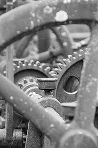 Gear, macchinari, meccanismo di, arrugginito, macchina, Ferro da stiro, meccanica