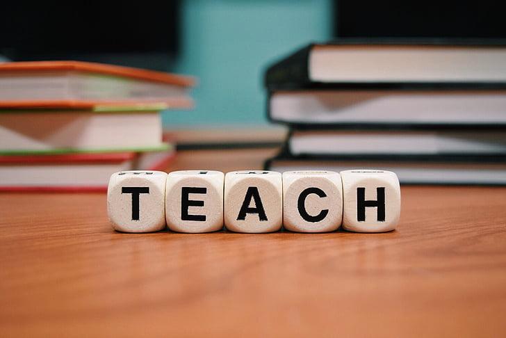 undervisa, utbildning, skolan, klass, undervisning, trä - material, inomhus