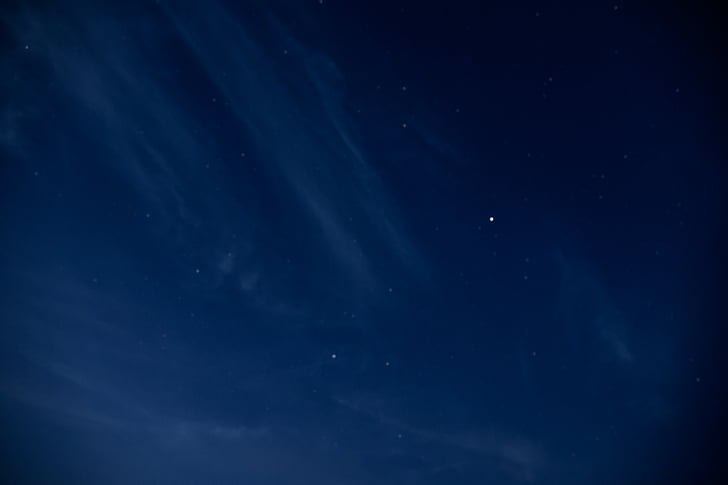 nature, sky, clouds, night, constellations, stars, blue