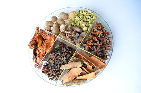 espècies, bol, cardamom, aliments, ingredients, cuina, sabor