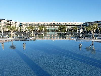 Havuzu, lüks otel, Yüzme Havuzu, tatil, şemsiye, su, yüzmek