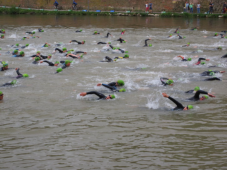 competition, crawl, involved, swim, track and field athletes, athletes, triathlon