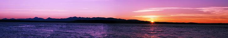strand, Dawn, schemering, landschap, Bergen, natuur, Oceaan