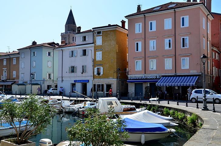 Olaszország, Muggia, Port, sétány