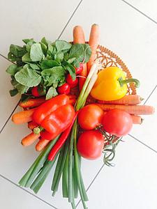 vitaminer, frugt, sund, mad, Frisch, vegetabilsk, friskhed