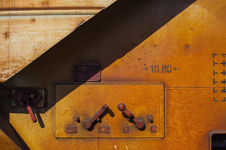fàbrica abandonada, contrasten, fàbrica, ronyós, òxid, Rusted