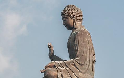Buda gegant tian tan, Zen, 34 metres d'alçada, 250 tones, estàtua monumental, bronze, amoghasiddhi