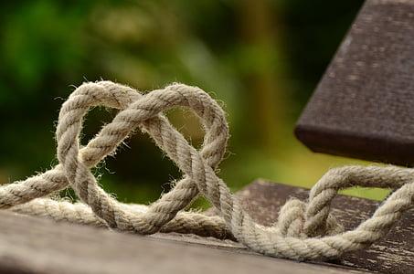 corda, teixir, cor, l'amor, junts, l'amistat, nus