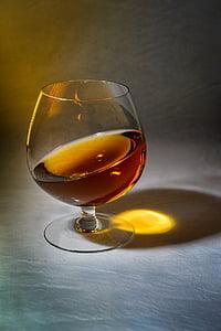 cognac, horizon, alcohol, wine, wineglass, drinking glass, drink