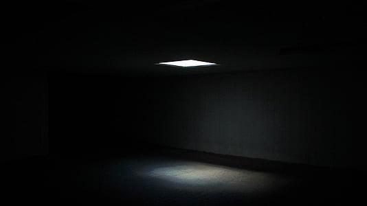 vinduet, lys, mørk, dystre, kammeret, glød, skumle