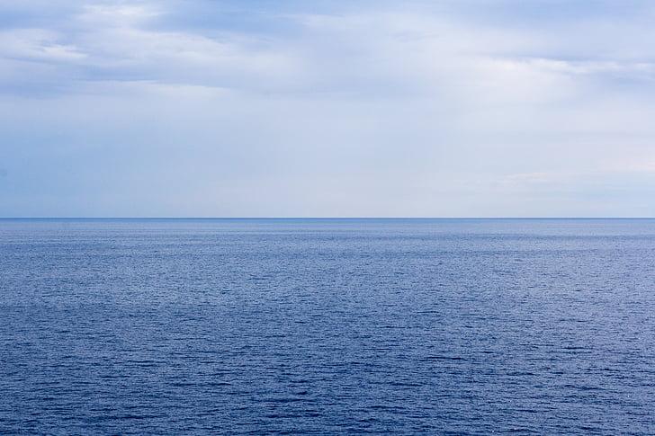 mar, Horizon, cielo, Océano, Océano Ártico, Océano Atlántico, Océano Índico