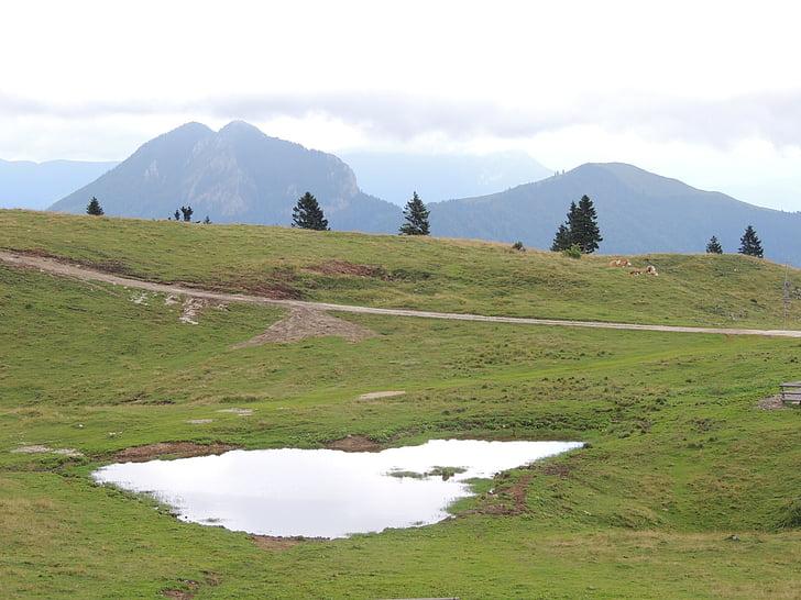 slovenia, mountains, mala planina, lake, nature