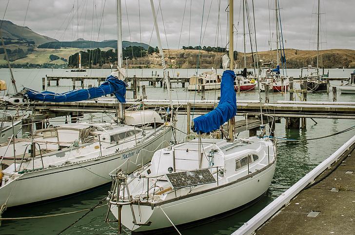 segelbåt, havet, Ocean, landskap, naturen, segelbåtar, segling