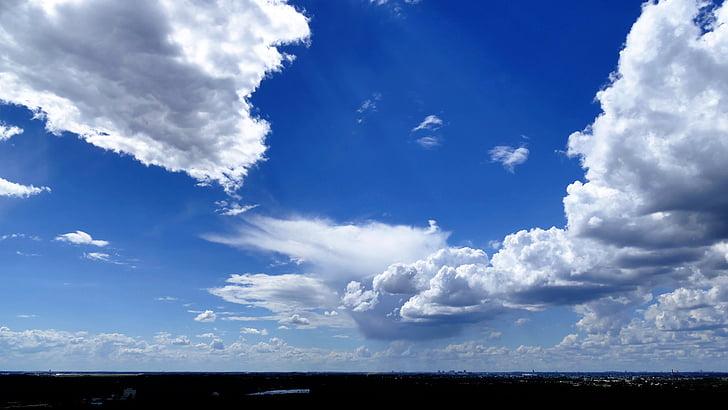 nature, sky, clouds, blue, landscape, city, clouds form