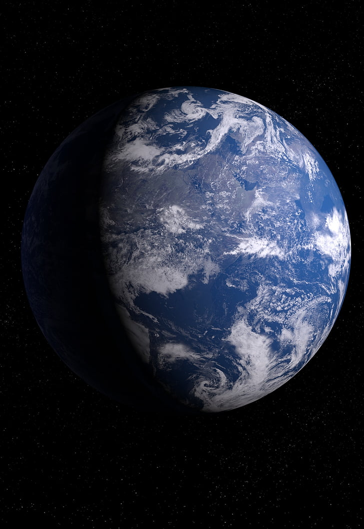 Terre, Globe, monde, espace, arrière-plan, planète bleue, planète