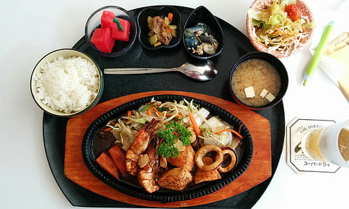 sushi, dinar, taula, aliments, menjar, cuinar, alimentari