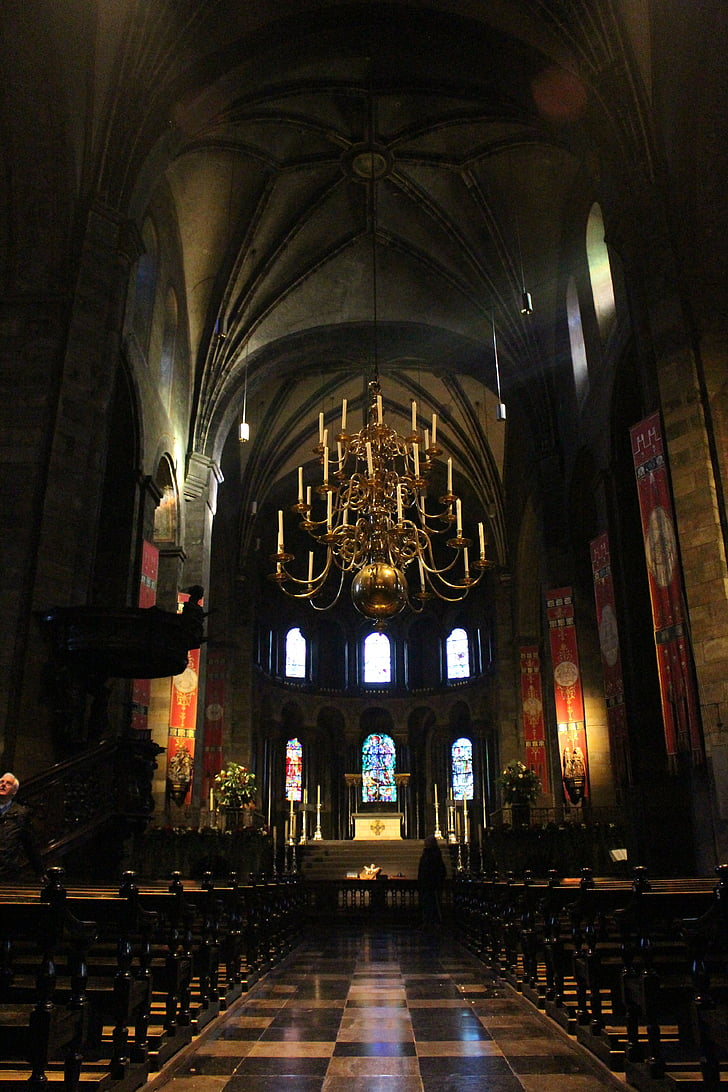 maastricht, church of our lady, romanesque, nave, church, architecture, christianity